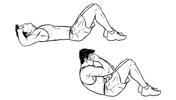 جدول تمارين بطن - تمرين sit-ups